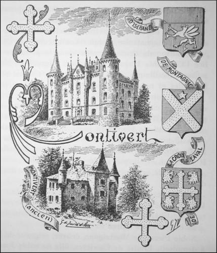 Le château de Montivert avant et après remaniement, par Jourda de Vaux