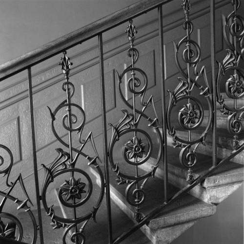 Garde-corps de l'escalier de la maison sise 53 boulevard des Brotteaux, Lyon 6e