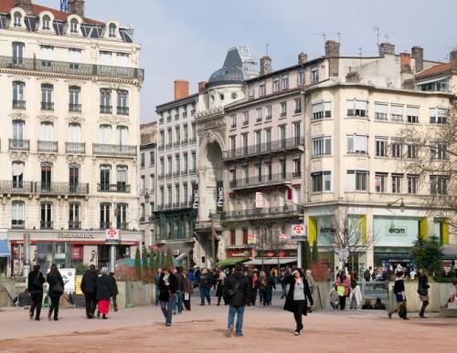 Le théâtre Bellecour (actuellement FNAC), vue de situation en 2009