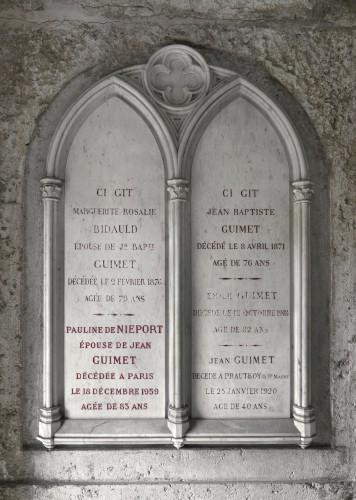 Chapelle funéraire de la famille Guimet, cimetière de Loyasse, Lyon 5e