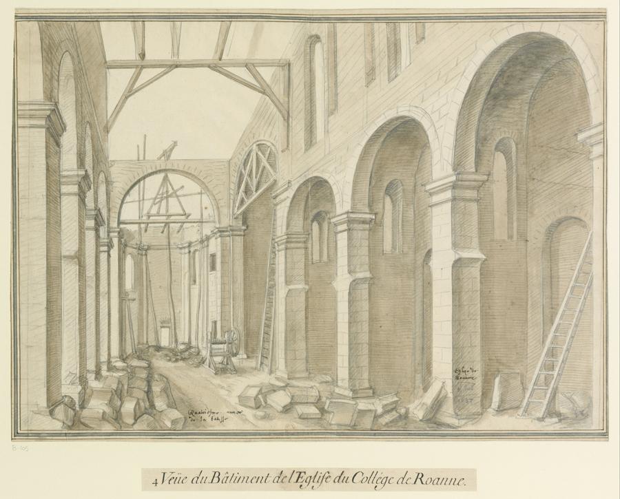 Fig. 11. Quatrième vue de l'église du collège de Roanne, [s.d.] [été 1620] (BnF, Est., Ub 9, f. 105)