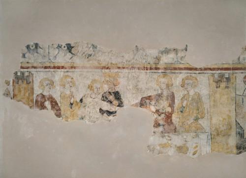 Les peintures murales en 1990 : la scène du banquet