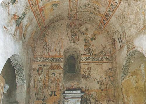 Une bande dessin e au tournant du xiiie si cle les peintures murales d truites de l ancienne for Peinture a l ancienne
