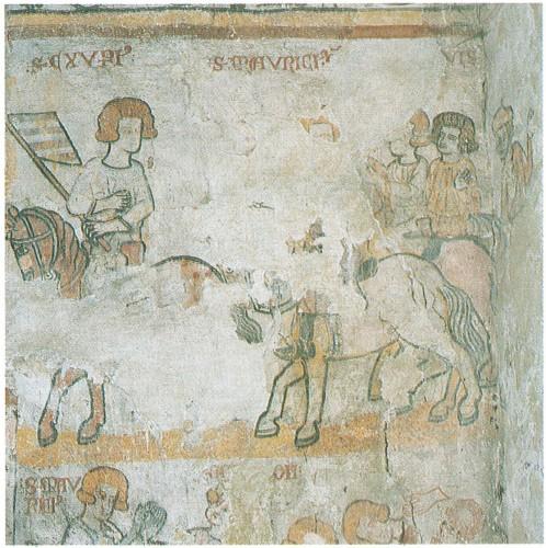 Martyre de saint Maurice. Eglise Saint-Maurice à Saint-Maurice-sur-Loire (Loire). Photographie de Jean-François Claustre.