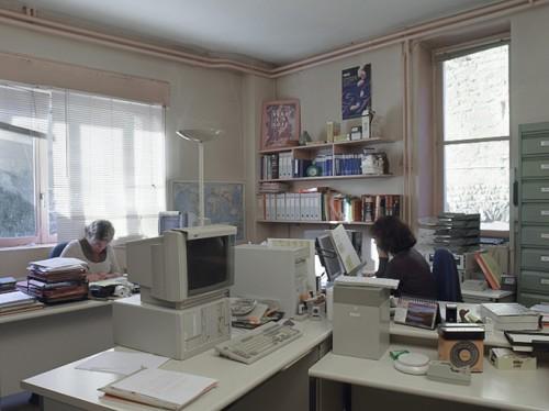 Vue intérieure des bureaux.