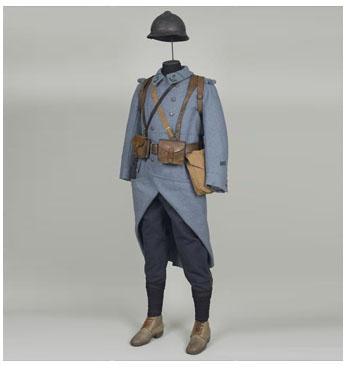 Ill. 3. Chasseur du 8e bataillon de chasseurs à pied. Phot. E. Gambier et P. Segrette © musée de l'Armée (dist. RMN-Grand Palais)