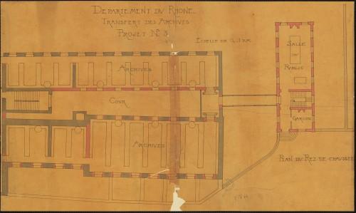 Avant-projet n° 3 / Louis Rogniat. 1907. (© AD Rhône, 2 Pl. 64 – Repr. Th. Leroy, Région Rhône-Alpes)