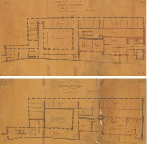 Avant-projet n° 2 / Louis Rogniat. 1907. (© AD Rhône, 2 Pl. 62-63 – Repr. Th. Leroy, Région Rhône-Alpes)