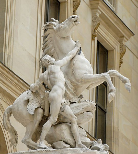 Fig. 9. Guillaume II Coustou, Cheval de Marly,1745. Paris, musée du Louvre. © Marie-Lan Nguyen / Wikimedia Commons