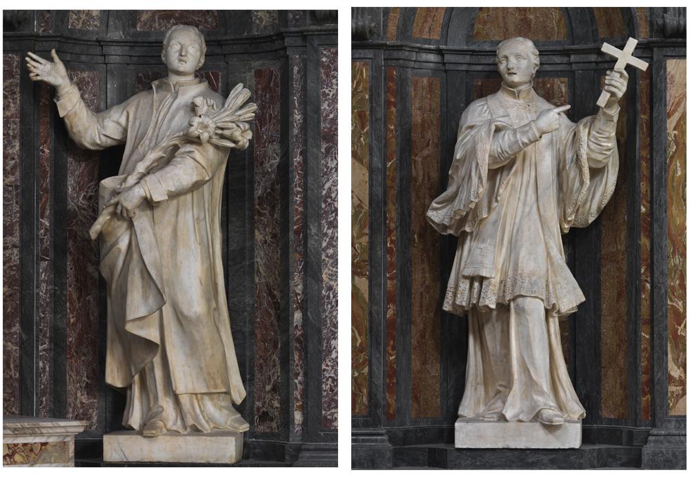 Saint Louis de Gonzague et saint François-Régis.