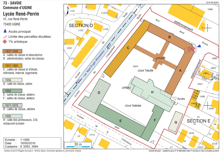 Plan masse et chronologique. Dess. A. Céréza