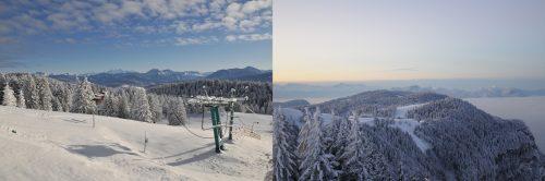 Vue sur le Mont-Blanc et les montagnes depuis le sommet (Jean-Pierre Petit - 2009 et 2016)