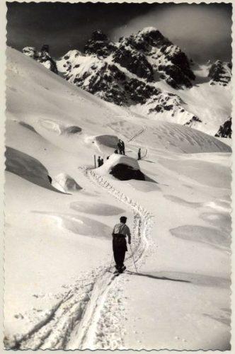 Laurent Chappis, reconnaissance dans les Trois Vallées (© Archives départementales de la Savoie)