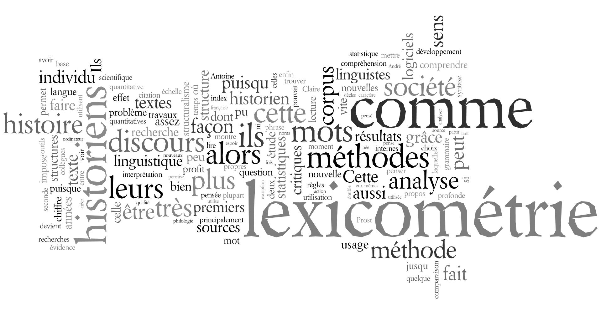 Wordle sur le contenu du billet (la taille des mots dépend de leur occurence dans le texte)