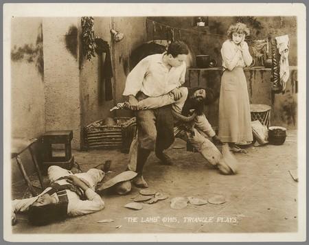 L'agneau se défend. Douglais Fairbanks dans The Lamb. Christy Cabanne 1917. Coll. Cinémathèque française. D.R.