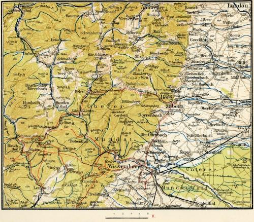 Führer durch die Vogesen : le secteur de Wissembourg. Auteur : Charles Ruff, 1923 (Phot. Musées de Strasbourg)