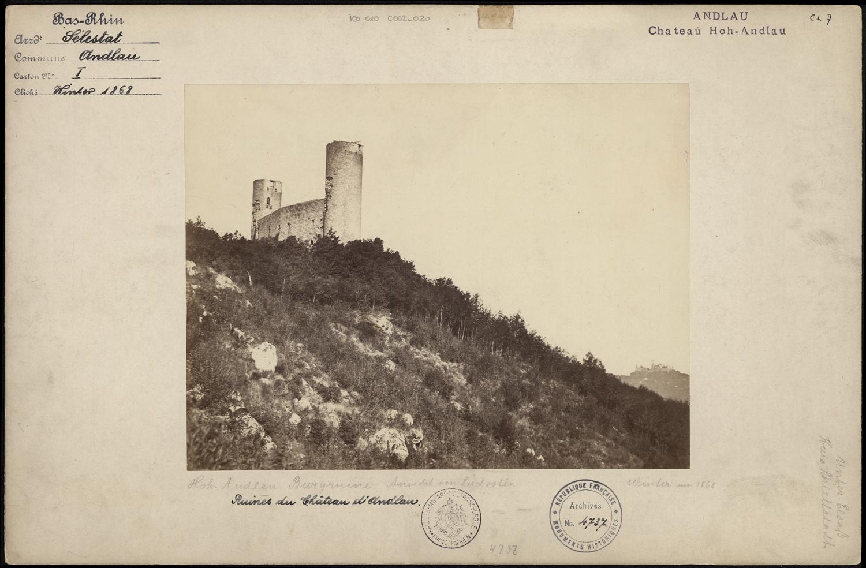 Château du Haut-Andlau à Andlau, 1868 (Denkmalarchiv, DRAC Alsace)
