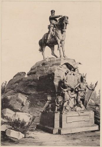 Monument de l'empereur Frédéric III à Woerth, par Max Baumbach. S.n., 1898 (Denkmalarchiv, DRAC Alsace)
