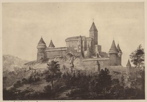 Proposition de restauration du château du Haut-Koenigsbourg. Auteur : Charles Winkler, 1894 (Denkmalarchiv, DRAC Alsace)