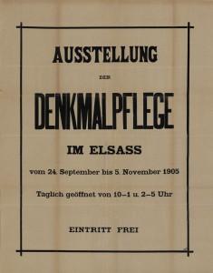 Affiche de l'exposition de 1905 (Coll. BNU Strasbourg)