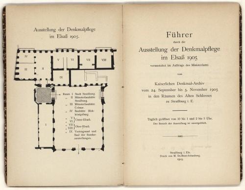 Guide de l'exposition de 1905 (Coll. BNU Strasbourg)