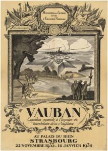 Affiche de l'exposition Vauban,1933-1934 (Photo. et coll. BNU Strasbourg)