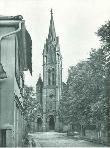 Église de la Paix à Frœschwiller. Auteur : Wioland, 1904 (Denkmalarchiv, © DRAC Alsace)