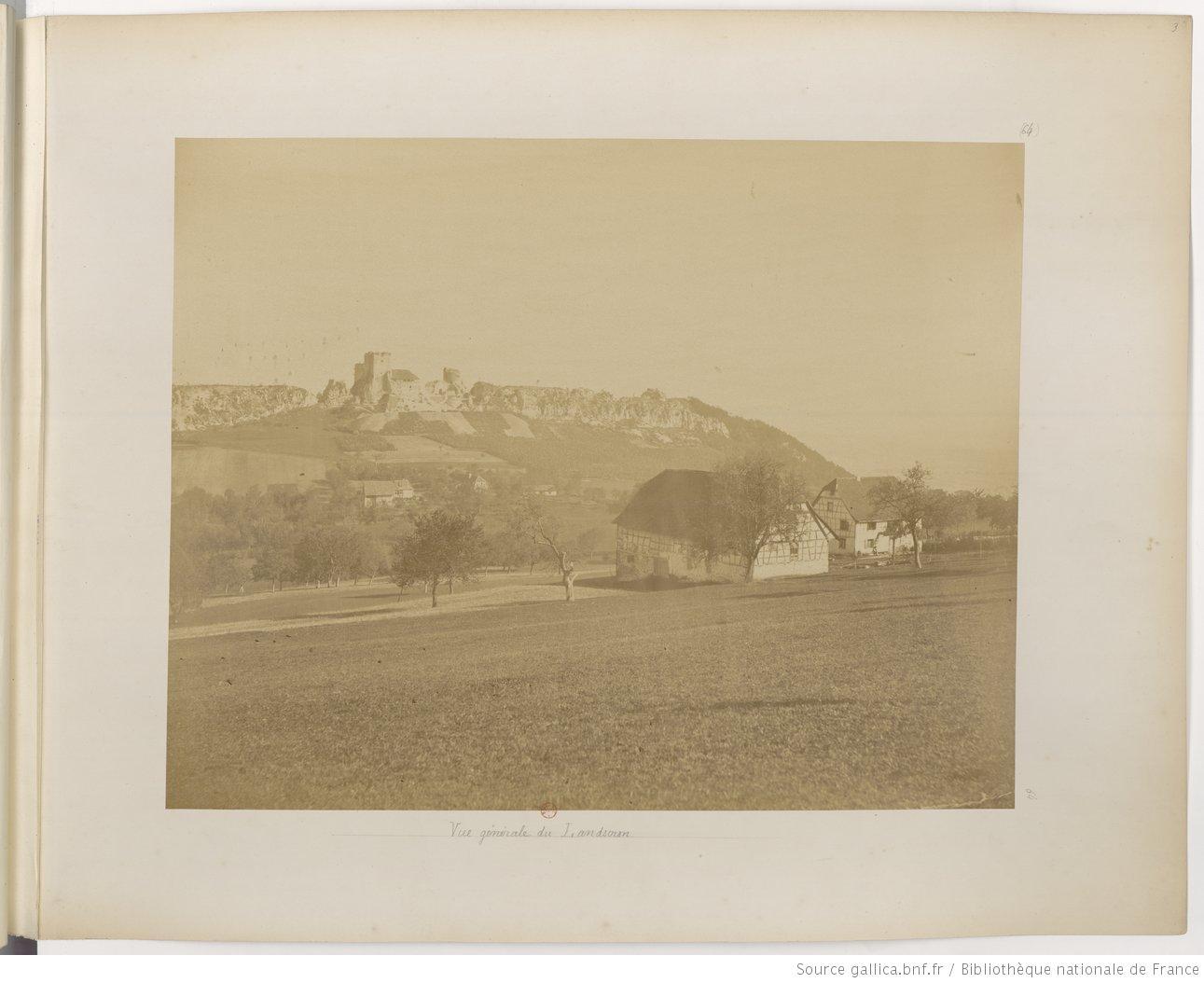 L'Alsace photographiée. Auteur : Adolphe Braun, 1859. Source gallica.bnf.fr / Bibliothèque nationale de France, département Estampes et photographie, FOL-VE-162