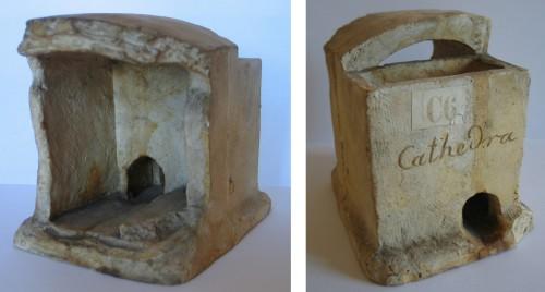 Moulage d'une pièce recouverte d'une demi-voûte, dite cathedra, réalisée par la pasteur Ringel. Musée de Saverne