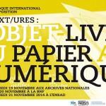 colloque Text/ures: l'objet livre du papier au numérique