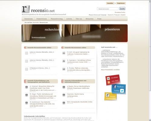 Startseite recensio.net