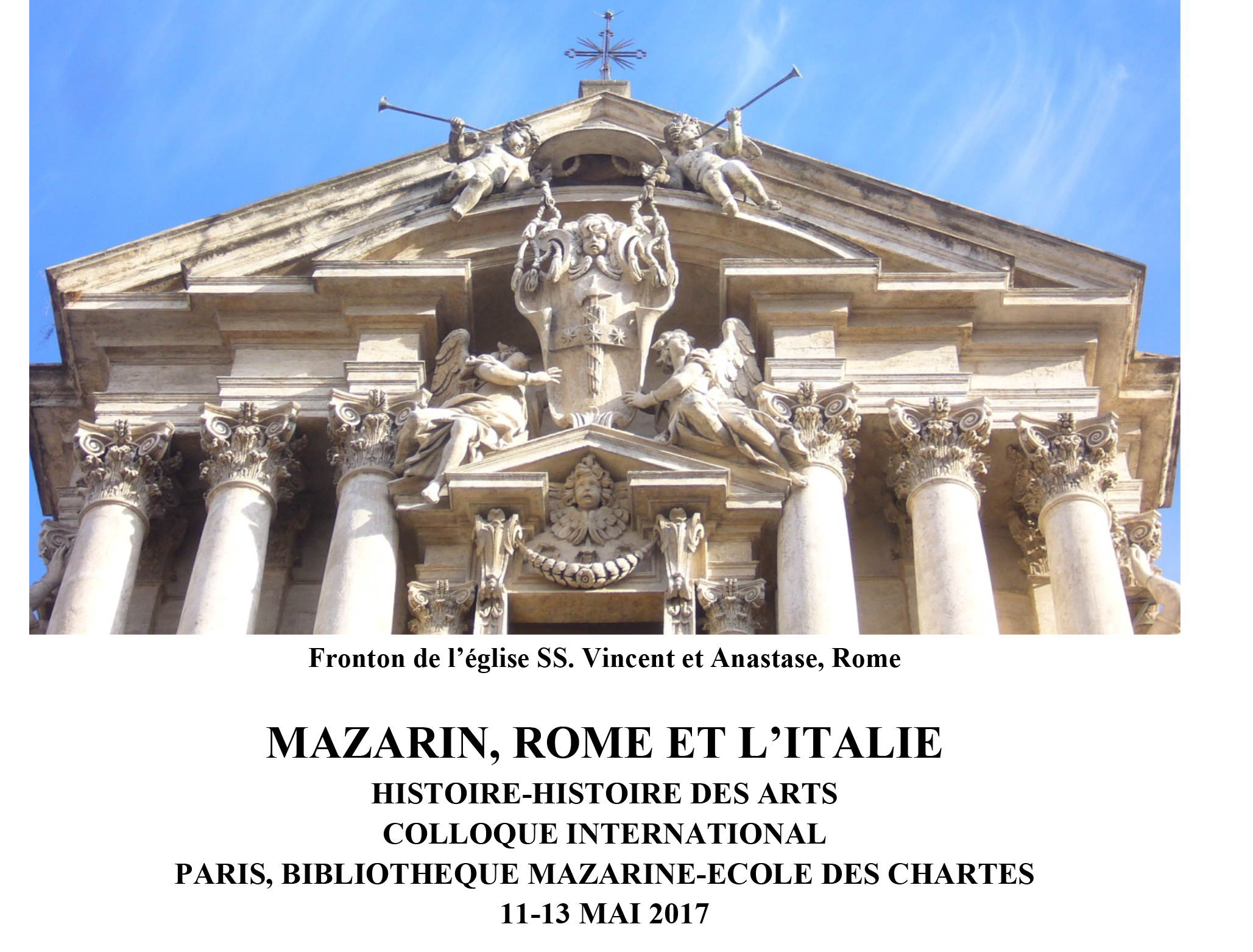 colloque mazarin rome et l italie paris 11 13 mai 2017 crcv. Black Bedroom Furniture Sets. Home Design Ideas