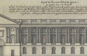 Christian Friedrich Gottlieb von dem Knesebeck, dans : Journal d'un voyage en France, v. 1699, manuscrit, Rostock : Universitätsbibliothek, détail de la p. 21.