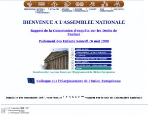 Page d'accueil, le 15 mai 1998