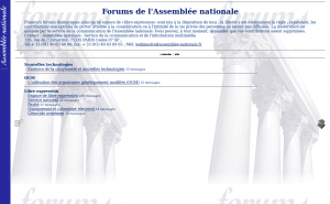 Page forums, le 4 octobre 2001