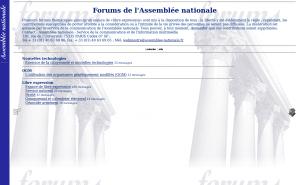 Page forums, le 4 octobre 2001