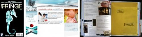 Fringe: Comix / site de la société Massive Dynamic / NoteBook de September expliquant le plan des Observers