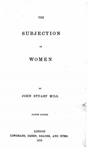 mill subjection of women