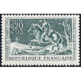 journee-du-timbre-courrier-c-cheval-18eme-siecle-gravure-de-parrocel-annee-1964-n-1406-yvert-et-tellier-luxe-1039325867_ML