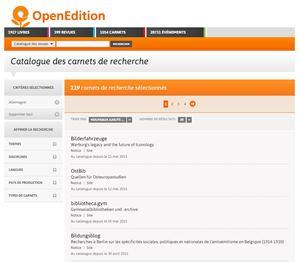 Katalog der wissenschaftlichen Blogs