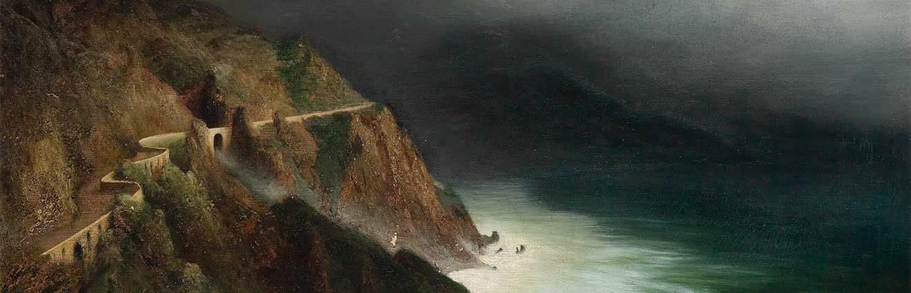 Diefenbach, Coastal Road near Sorrento-Amalfi, 1911