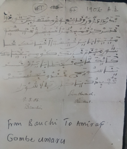 An example of Ajami correspondence