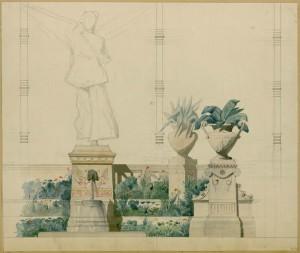 Projet pour la grande serre de la fontaine de la Maison Pompéienne, Alfred Normand