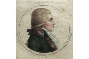Portrait d'homme,  Edme Quenedey (1756-1830),  XVIIIe siècle (fin) /XIXe siècle (début), dessin au physionotrace, gravure. Inv. 43527 © Les Arts Décoratifs
