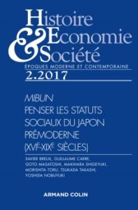 Histoire, Economie & Société 2. 2017