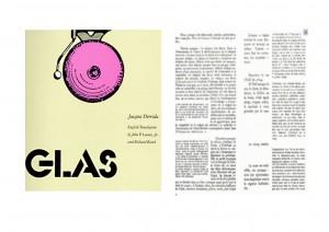 Jacques Derrida, Glas, 1974.
