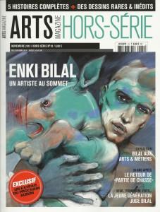 """Couverture du numéro spécial """"Enki Bilal, Un artiste au sommet"""" de la revue """"Arts Magazine"""" (novembre 2013)"""