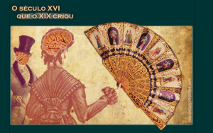 """Page d'accueil du site de Genaro """"O Seculo XVI Que O XIX Criou"""". Le menu est déployé en éventail."""
