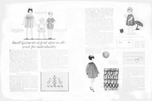 Fig.1. Article sur la mode vestimentaire enfantine publiée par la compagnie Barbours Linen Thread, 1926-1927. Source : J. Walter Thompson Company. 35mm Microfilm Proofs, 1906-1960 and undated. Reel 2.