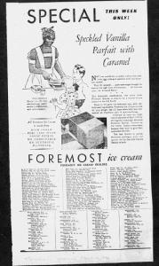 Fig. 2. Publicité pour Foremost Ice Cream, 1929-1930. J. Walter Thompson Company. 35mm Microfilm Proofs, 1906-1960 and undated. Reel 9. Les différences raciales semblent appartenir au passé et ne toucher que les adultes.